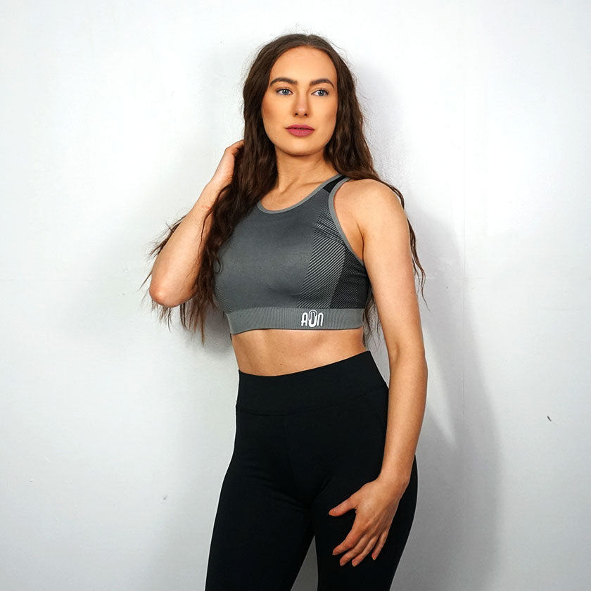 All or Nothing - Women's Grey Crop Top