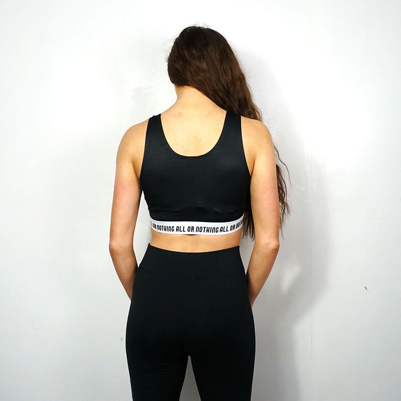 All or Nothing - Black/ White Crop Top