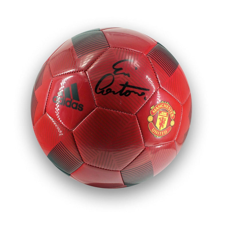 ERIC CANTONA PERSONALLY SIGNED MANCHESTER UNITED FOOTBALL