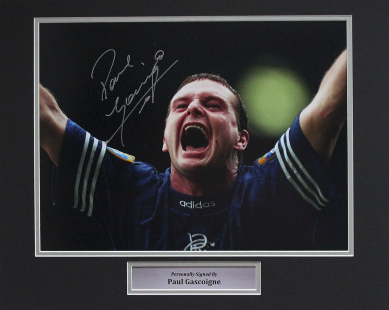 PAUL GASCOIGNE -RANGERS DEBUT GOAL VS CELTIC - PRE-FRAMED