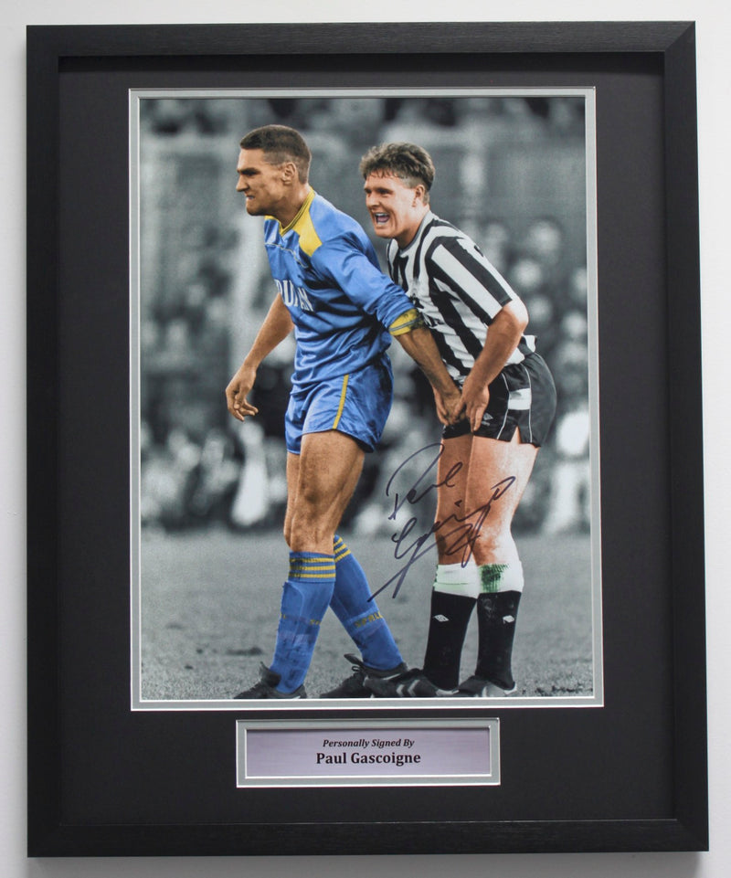 PAUL GASCOIGNE SIGNED - CROWN JEWELS - CLASSIC FRAME