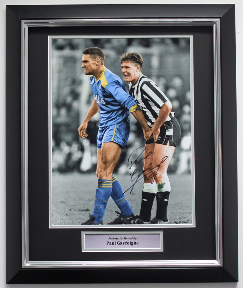 PAUL GASCOIGNE SIGNED - CROWN JEWELS - PREMIUM FRAME