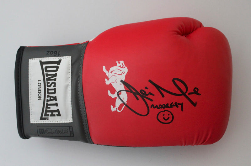JAMIE MOORE PERSONALLY SIGNED - RIGHT HANDED BOXING GLOVE - LANDCAPE SIGNATURE