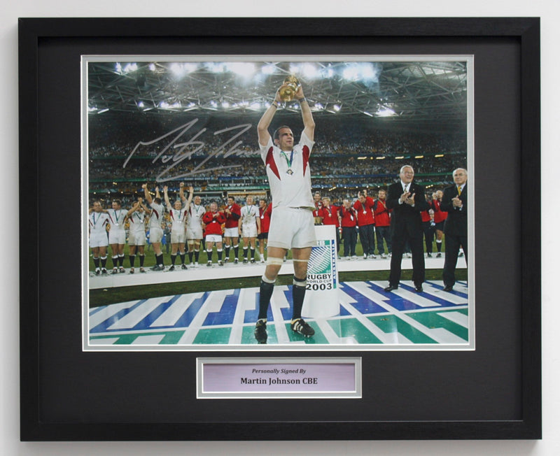 MARTIN JOHNSON - 2003 RWC PODIUM - CLASSIC FRAME