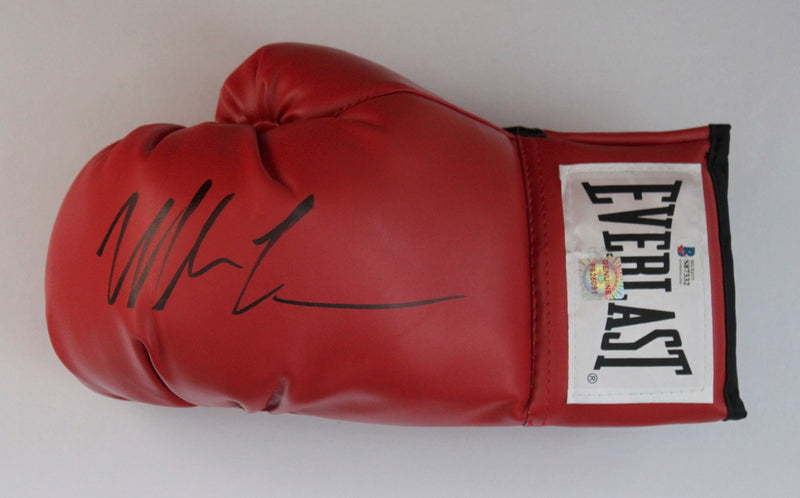 MIKE TYSON SIGNED LEFT HAND EVERLAST BOXING GLOVE - LANDSCAPE SIGNATURE