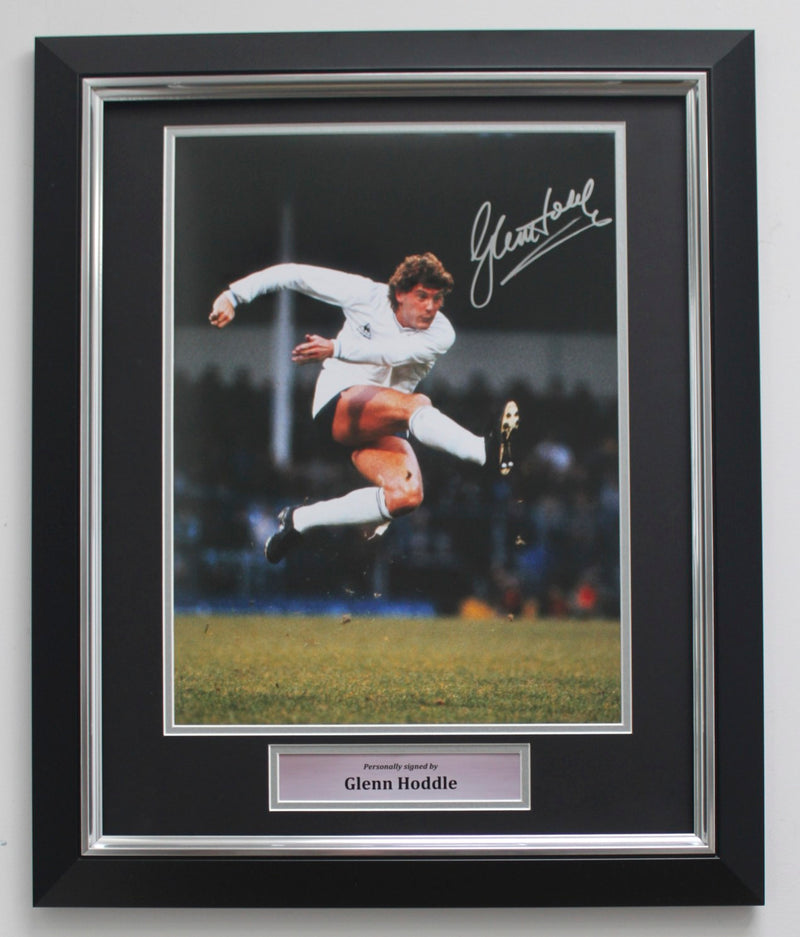 GLENN HODDLE SIGNED PHOTO - TOTTENHAM HOTSPUR - THE VOLLEY - DELUXE FRAME