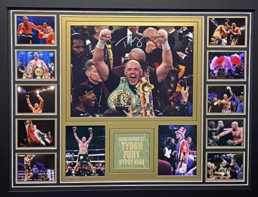 TYSON FURY - 16X12 PHOTO - WBC CHAMPION - BESPOKE FRAME