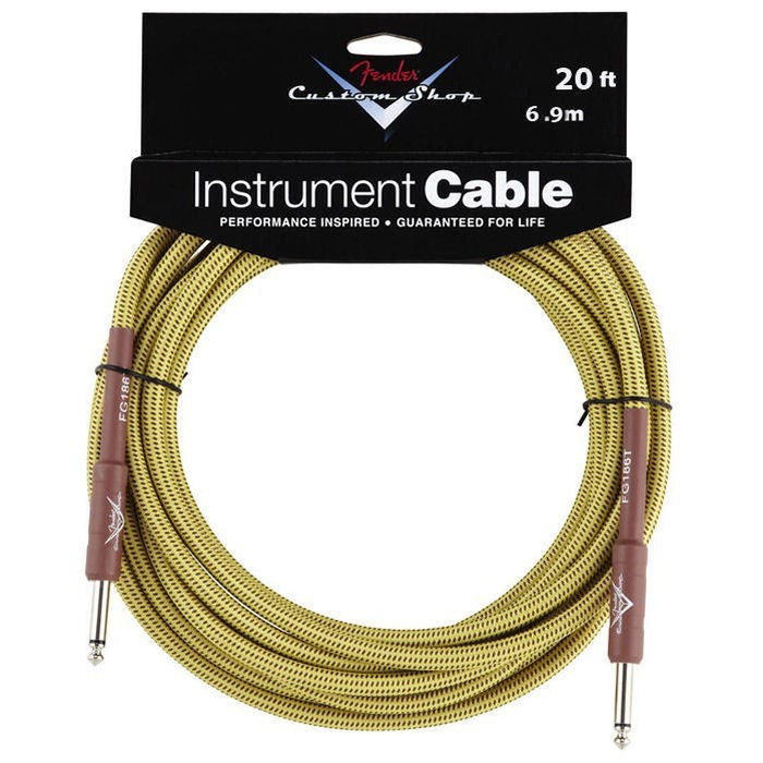 Fender FG20T 20ft Custom Shop Instrument Cable Tweed
