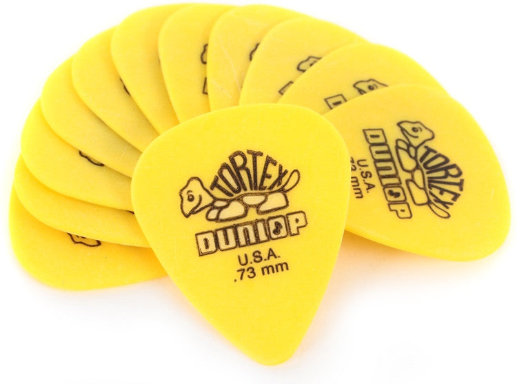 Dunlop 418P.73  Tortex Standard .73mm Plectrum Player Pack (12 Picks)