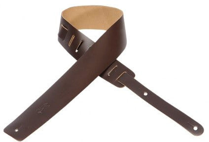 Levy's M1-DBR Dark Brown Leather Guitar Strap