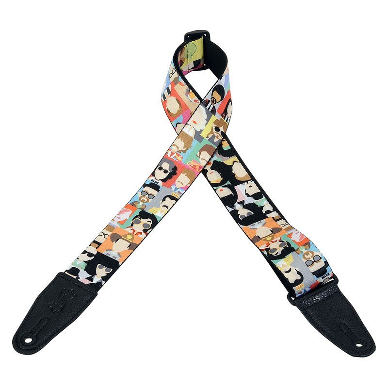 Levy's MPD2-104 Sublimation Series Polyester Strap Pop Icons