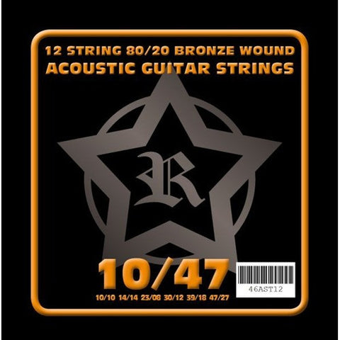 Rosetti 12 String 10-47 Acoustic Guitar Strings