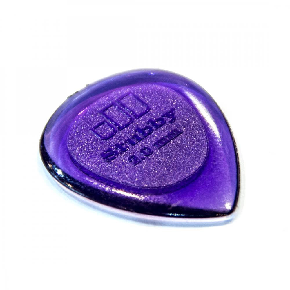 Dunlop 474R2.0 Stubby 2.00mm Purple Plectrum