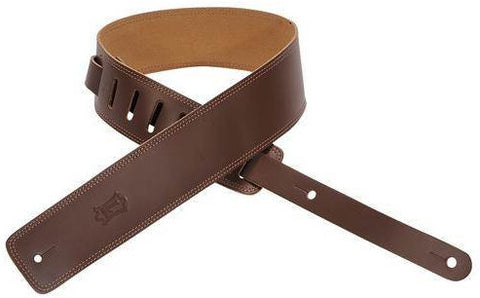 Levy's DM1-BRN Leather Guitar Strap -Brown