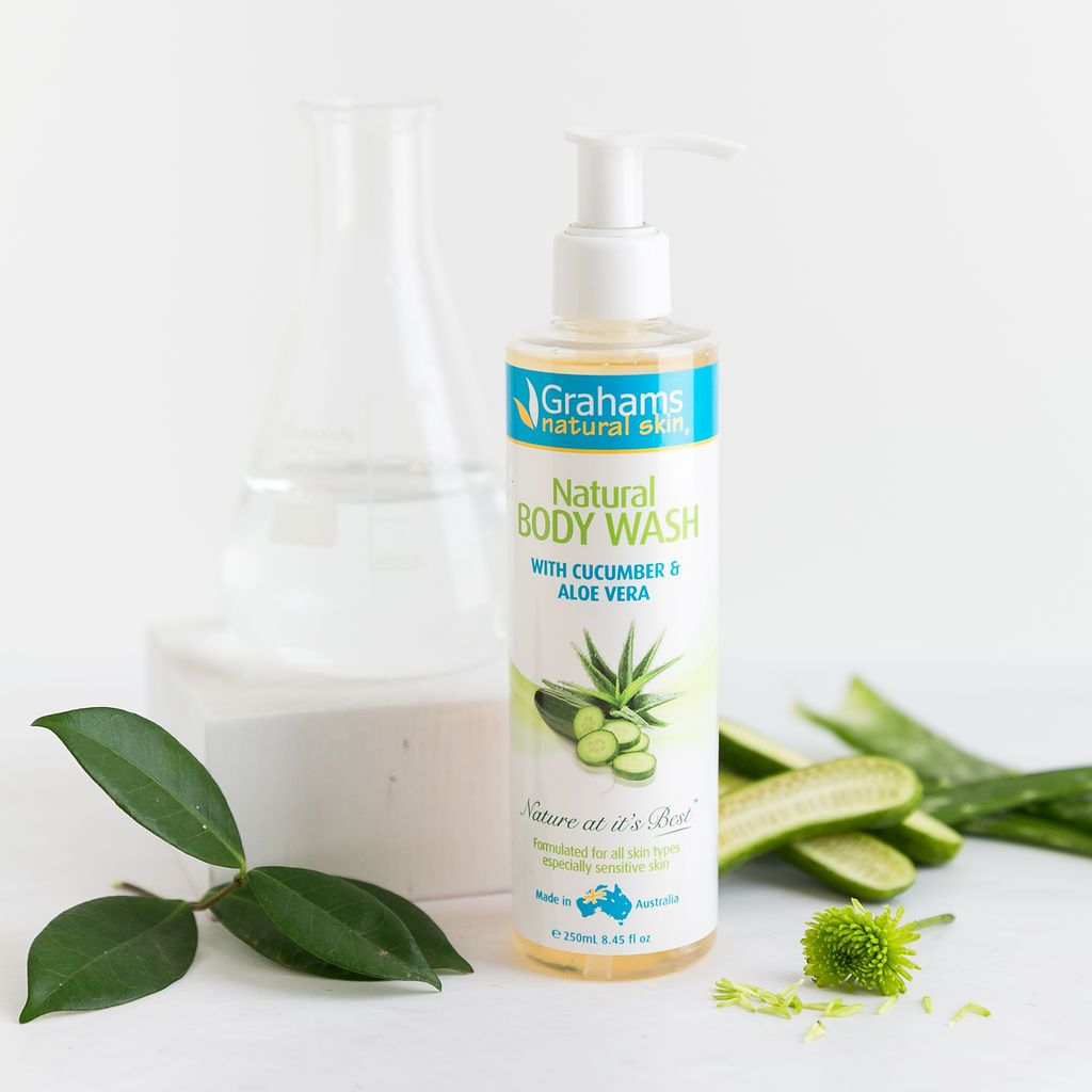 Natural Body wash enriched with cucumber and aloe Vera to soothe the skin