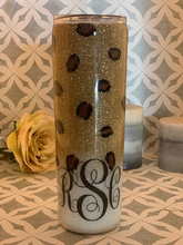 Load image into Gallery viewer, leopard monogrammed tumbler