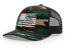 Load image into Gallery viewer, Distressed Flag Snapback Hat