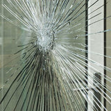 cracked pane of glass