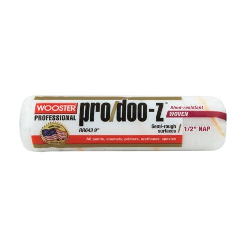 Wooster Pro/Doo-Z Fabric 1/2 in. x 9 in. W Paint Roller Cover 1 pk