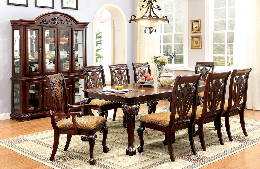 PETERSBURG I Cherry 9 Pc. Dining Table Set (2AC+6SC)