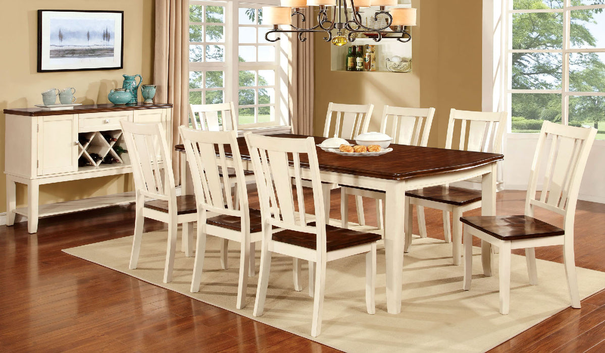 DOVER Vintage White 7 Pc. Dining Table Set