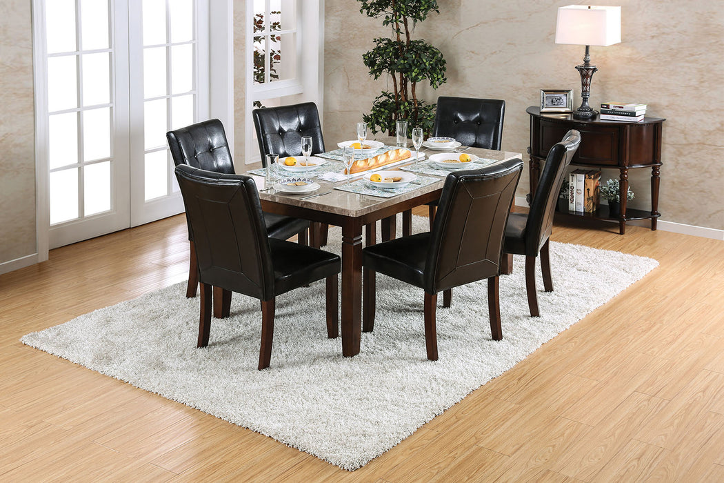 Marstone Brown Cherry 7 Pc. Dining Table Set