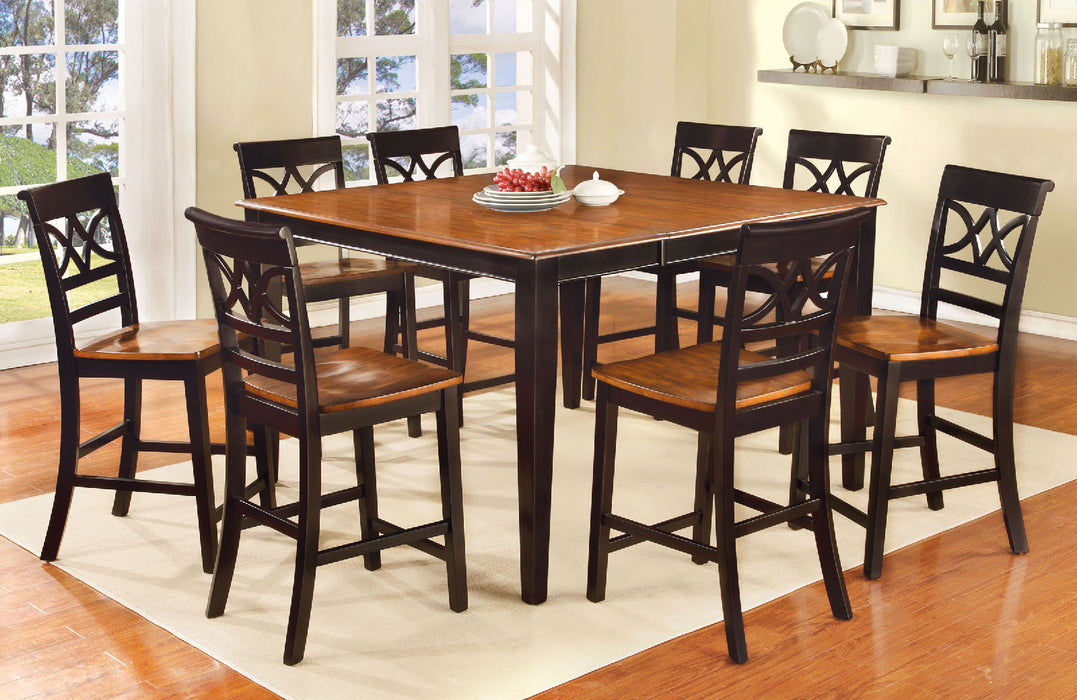 TORRINGTON II Black/Cherry 7 Pc. Dining Table Set