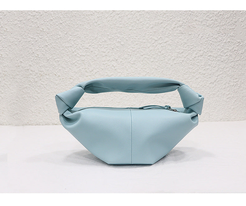 Colorful Cloud Dumpling Bag Soft Leather Handbag