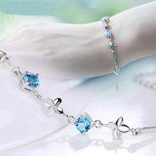Load image into Gallery viewer, S925 Sterling Silver Bracelet lucky clover