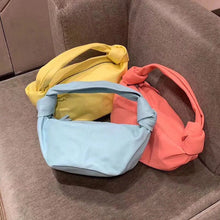 Load image into Gallery viewer, Colorful Cloud Dumpling Bag Soft Leather Handbag