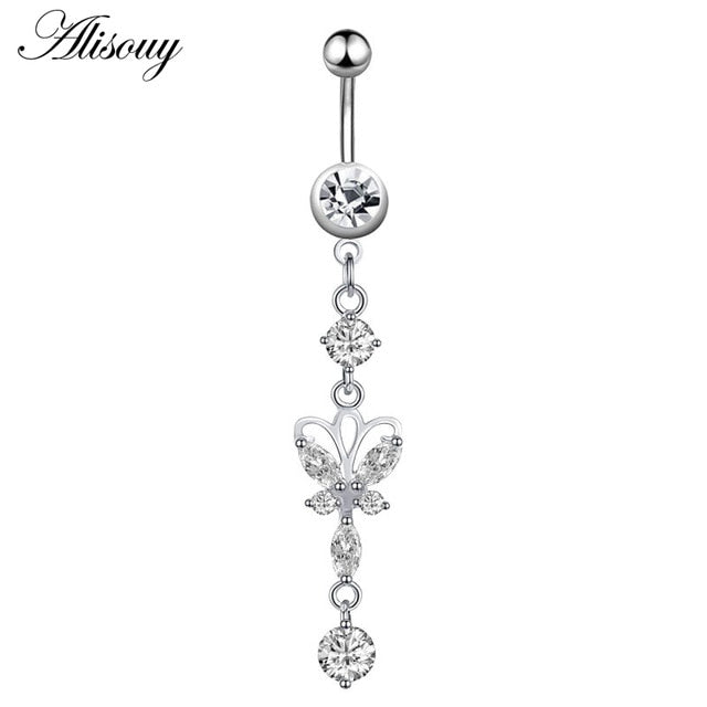 Flower Pendant Belly Button Rings Belly Piercing