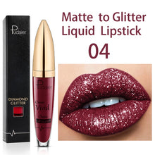 Load image into Gallery viewer, Glitter Liquid Lipstick Waterproof Diamond Pearl Color