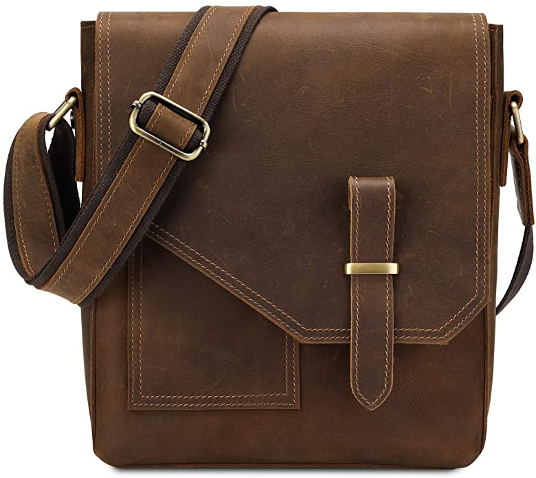 leather messenger bag for men