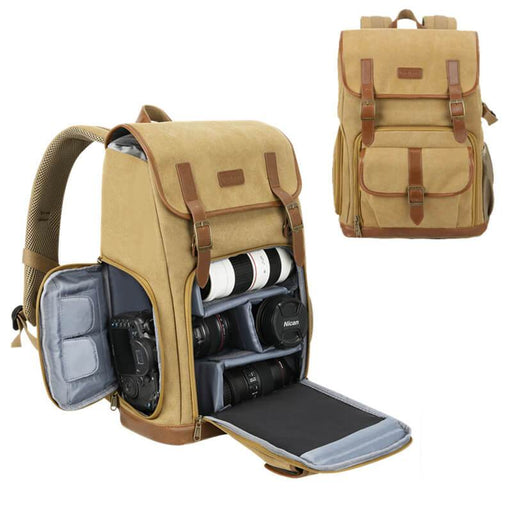 Denver Canvas Camera Backpack for DSLR Photography