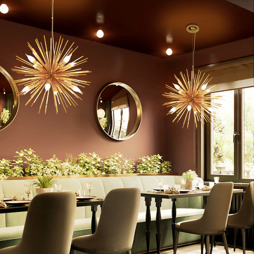 Nordic Artistic LED Aluminum Dandelion Chandelier Hanging Lamps Decor Fixture Lighting Led Home Lights