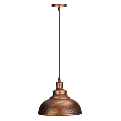 Vintage Edison Light Cover Lampshade E27 Industrial Retro Lamp Base Loft Iron Pendant Lights Holder Lighting Fixture