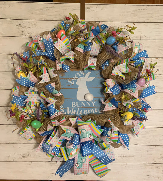 Easter Wreath - Every Bunny Welcome