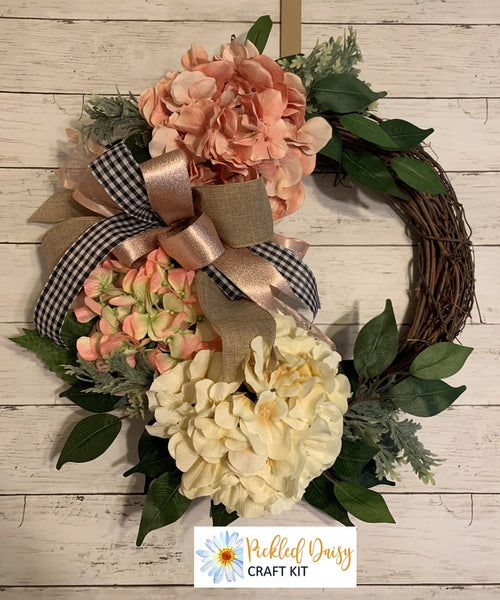 Spring Hydrangea Wreath Kit
