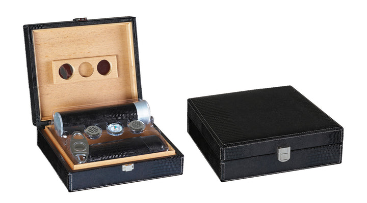 25 Ct. Black Leather Gift Set w/ Matching Accessories