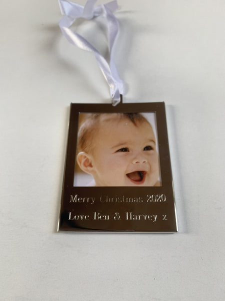 Personalised Hanging Photo Frame Ideal for Christmas Tree