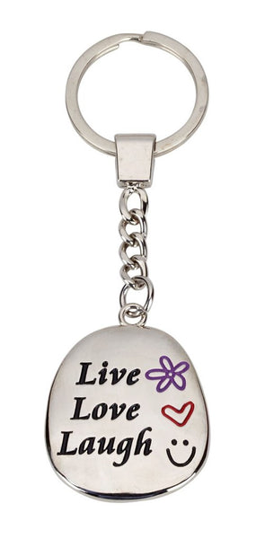 Live Love Laugh Keyring Personalised Engraved Free Delivery