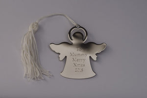Angel Personalised Engraved Christmas Tree Decoration Free Delivery