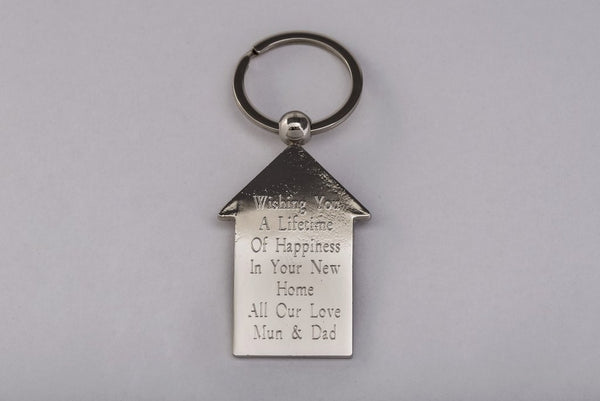 House Keyring Personalised Engraved Free Delivery