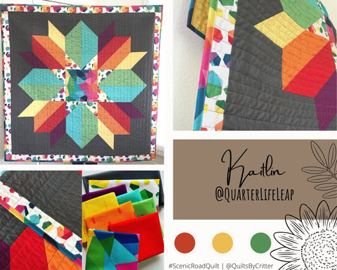 Collage of quilt photos by @QuarterLifeLeap