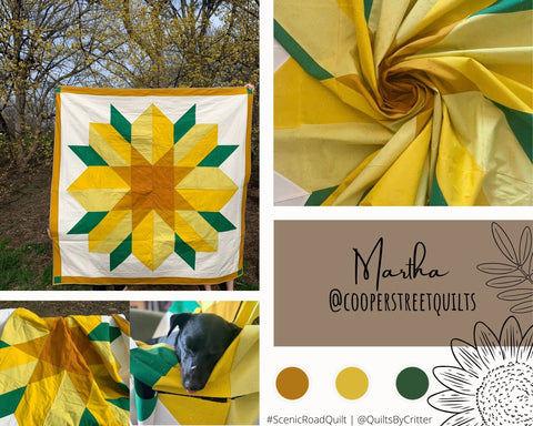Collage of quilt photos by @CooperStreetQuilts