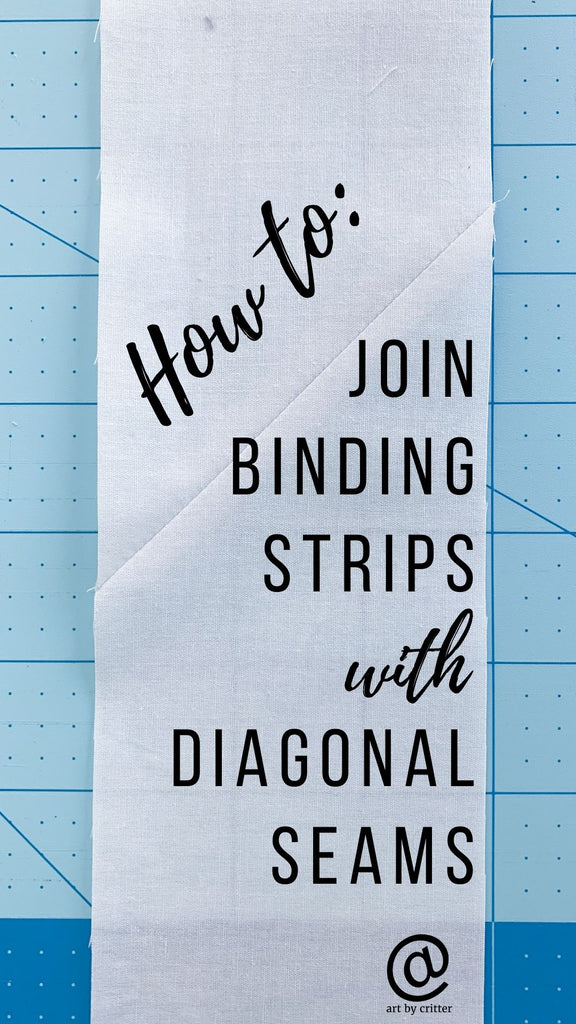 how to join binding strips with diagonal seams