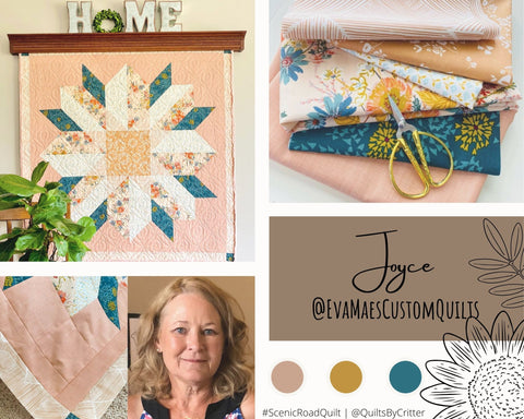Collage of quilt photos by @EvaMaesCustomQuilts