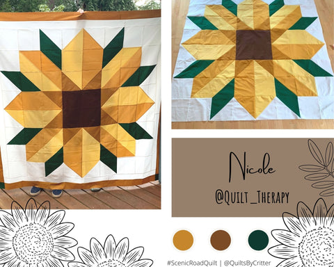 Collage of quilt photos by Nicole @Quilt_Therapy
