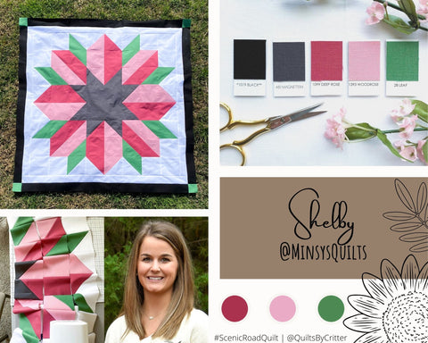 Collage of quilt photos by @MinsysQuilts