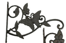 Load image into Gallery viewer, Decorative Cast Iron Butterfly Plant Hanger.  Garden Decor.